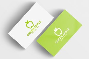 Green Apple Dentistry Logo Template