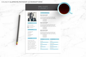 Blue Professional Creative Resume