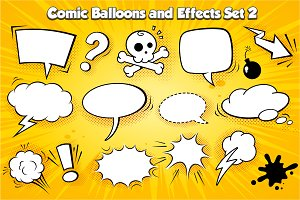 Vector comic Balloons set 2