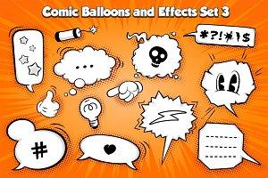 Vector comic Balloons set 3