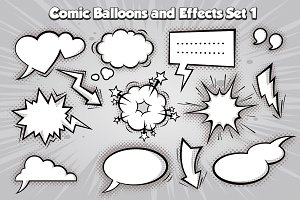 Vector comic Balloons set 1