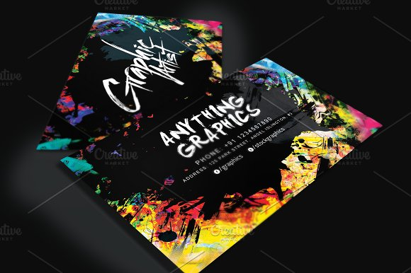 Artistic Business Card For Designers Business Card Templates