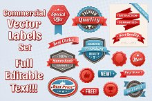 Vector Commercial Labels
