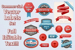 Vector Commercial Labels