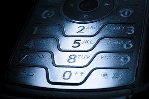 mobile phone in dark
