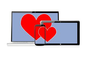 set of romantic electronic devices