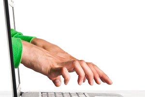 hacker's hands