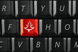 christmas tree on a keyboard
