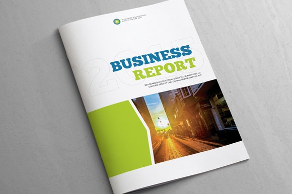 Business report template brochure templates creative market flashek Choice Image