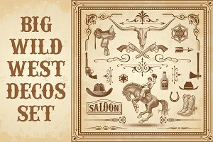 Wild West Decorations Set