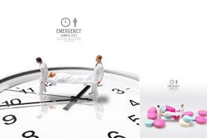 male nurse miniature figure concept