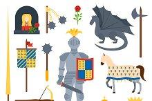 knight symbols vector illustration