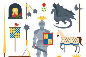 knight symbols vector illustration