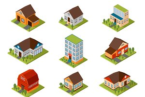 Isometric house vector illustration