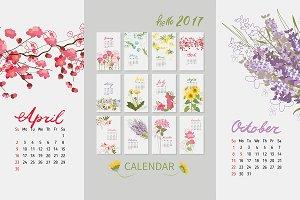 №158 Vintage floral calendar 2017