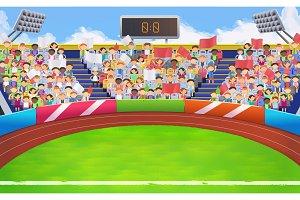 Stadium, sports arena