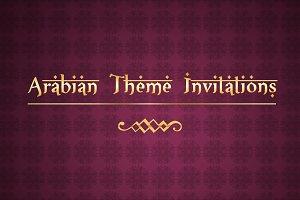 Arabian Theme Invitations