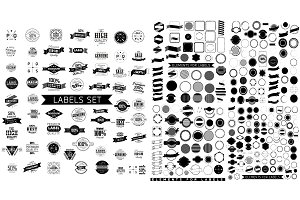 Elements for retro label set