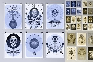Gothic poster set