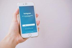 Smartphone with instagram