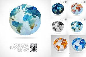 Vector world globe