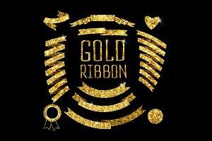 Ribbon of gold glittering