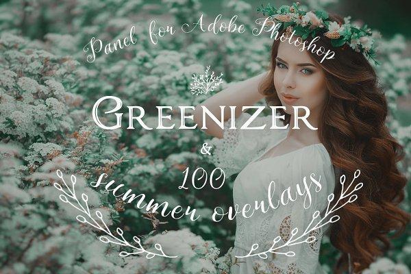 Photoshop Plugins: Pro Add-Ons - Greenizer & 100 Summer Overlays