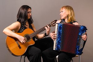 guitar and accordion performers
