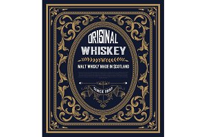 Vintage label for whiskey.