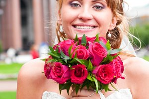 cheerful bride
