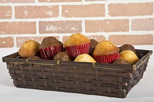 sweet bread in basket