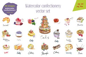 Watercolor confectionery