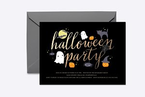 Spooky Critters Halloween Invite