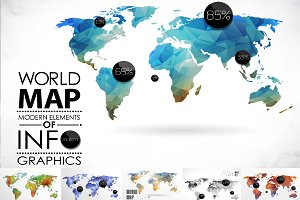 mosaic World Map set