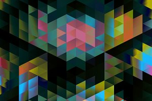 Chromatic Color Triangles Pattern