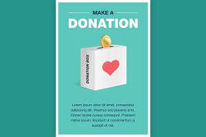 Charity and donation poster