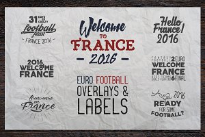 ⚽ France 2016 Football Euro Labels