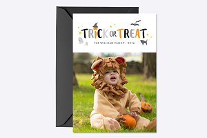 Trick or Treat Photo Card Template