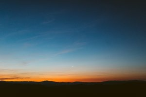 Sunrise and Morning Moon
