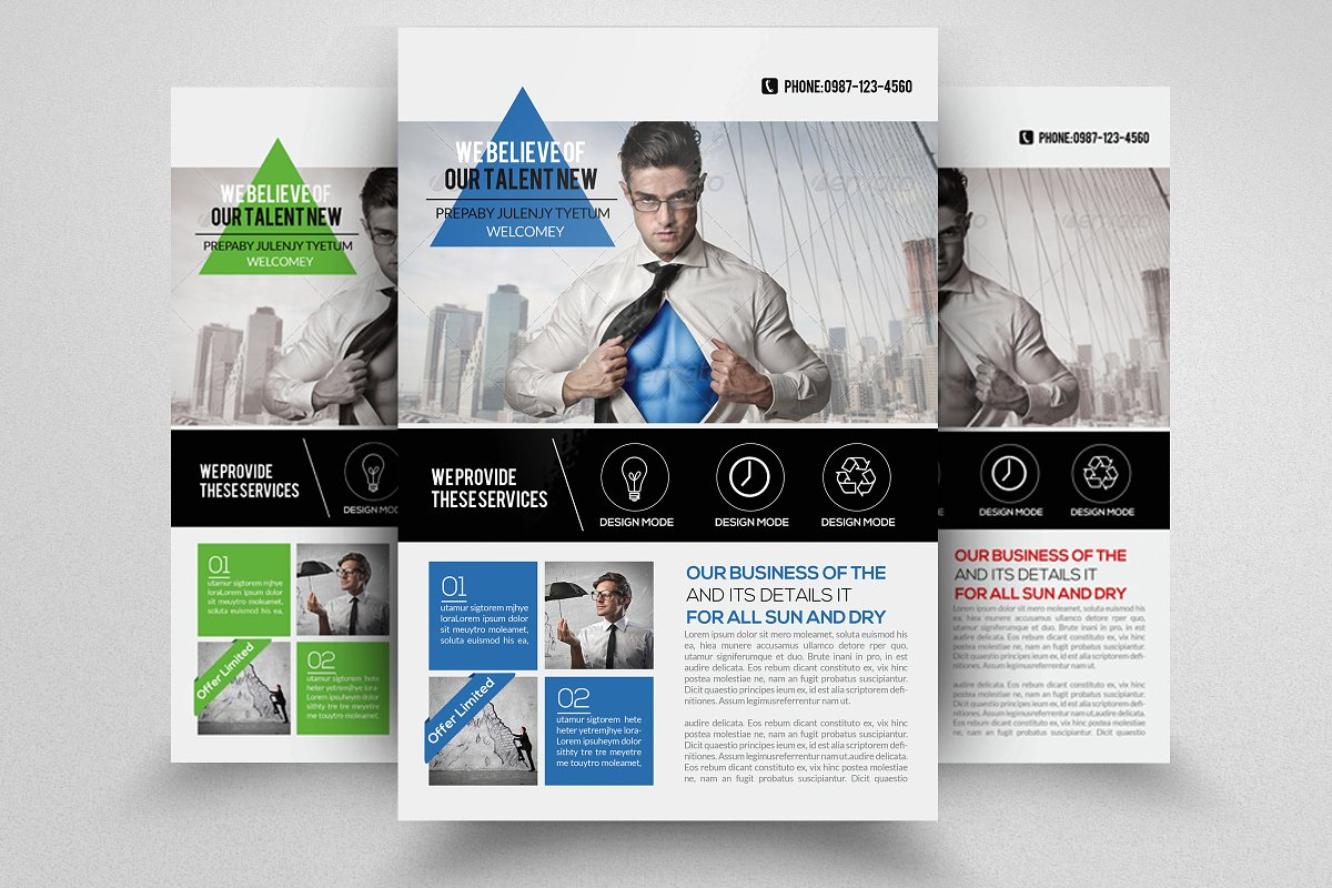 Multi Use Business Flyer Template
