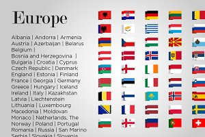 Europe 49 Flags