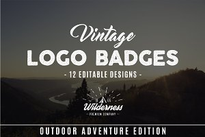 Outdoor Adventure Badges Set