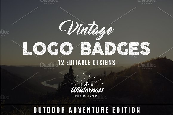 Outdoor Adventure Badges, Camp Logos in Logo Templates