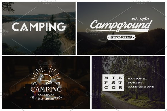Outdoor Adventure Badges, Camp Logos in Logo Templates - product preview 3