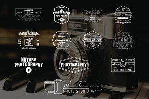 12 Vintage Photography Labels