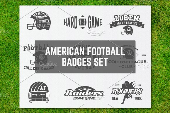 9 American Football Logos & Labels