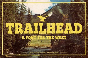Trailhead - A Font for The West
