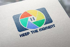 {-50%}Keep The Moment Logo Template