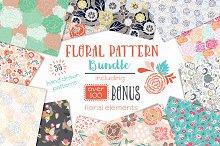 Vector Floral Pattern Bundle