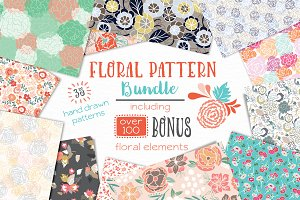 Vector Floral Pattern Bundle
